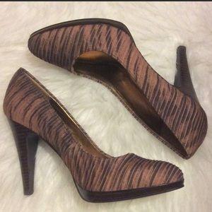 Nine West | Brown Textured Heel